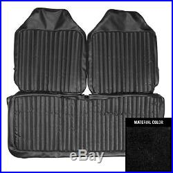 PUI 1972 Dodge Dart/Valiant Black Front Bench Seat Cover 72KSDA10B