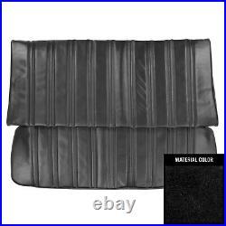 PUI 1974 Monte Carlo Hardtop Black Rear Bench Seat Cover 74MS10C