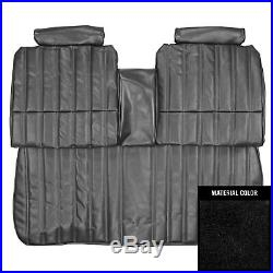 PUI 1977 Chevrolet Malibu/Laguna Black Front Bench WithArm Rest Seat Cover