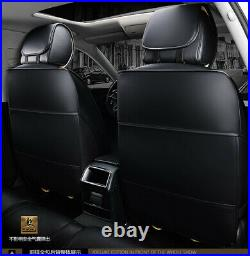 PU Leather Seat Cover Split type Front & Rear Cushion Bench Option All Season