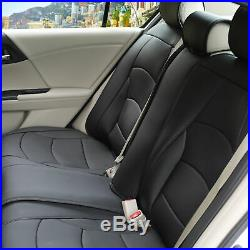 PU Leather Seat Covers Most Auto Rear Split Bench Cover Black Most Auto