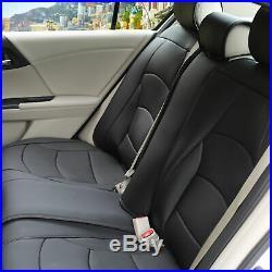 PU Leather Seat Covers Sedan Rear Split Bench Cover Black Sedan