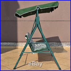 Patio Garden Bench Love Seat Cover Shade Swing Sofa Glider Hammock Green Stripes