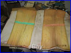 Pr. NOS Fiat#Early Spider 124/2000 Mahogany/Brown Rear Back Seat Cover/Upholstery