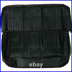 Procar 80-9210-51 Black Vinyl Rear Seat Cover, 1966-67 Nova