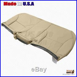 REAR Bench Bottom Tan Perforated Leather Cover For 2002-2006 Lexus ES300 ES330