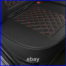 Rear Bench Car Seat Cover 5-Seater Sedans For SUVs Pickup Trucks Black And Red