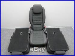 Rear Seat Bench Alcantara 3x Single Cover Second Row Highline Black VW Touran 5T