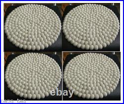 SIze 36 cm 4 mats White cushion Mat Woolen Cushion Cover Home Decor Seat pad