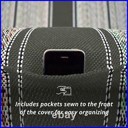 Saddle Blanket Full Size Bench Seat COVER Chevrolet Dodge Protector Truck, Black