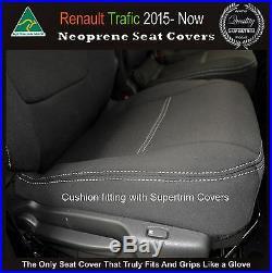 Seat Cover 15-Now Renault Trafic Van Front Bench Bucket Premium Neoprene