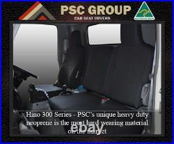 Seat Cover Fits Hino 300 Series FRONT Bucket & Bench Neoprene Waterproof
