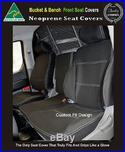 Seat Cover Ford Transit Custom Van Front Bench Bucket Premium Neoprene