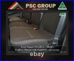 Seat Cover Ford Transit Front Bench Bucket (FB) 100% Waterproof Premium Neoprene
