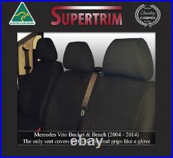Seat Cover Mercedes-Benz Vito Front Bench Bucket Combo Premium Neoprene