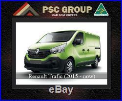 Seat Cover Renault Trafic Van Front Bench Bucket FB + 1 Pocket Premium Neoprene