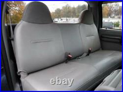 Solid Gray Mesh Fabric Bench seat cover Fit's Ford F150 Truck's 92-04