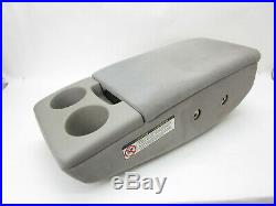 Toyota Tundra Center Console Armrest Cup Holder Fold Down Gray Fabric 00-04