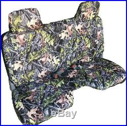 Triple Stitched Thick Camo Bench Seat Cover Large Notched Cushion Custom Fit