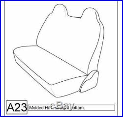 Triple Stitched Thick Small Pickup Truck BEIGE Solid Bench Seat Cover Custom Fit