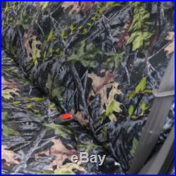 Triple Stitched Thick Small Pickup Truck Bench Forest Camo Seat Cover