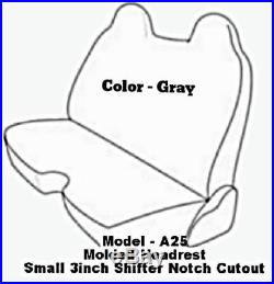 Triple Stitched Thick Small Pickup Truck Bench Gray Seat Cover Custom Made