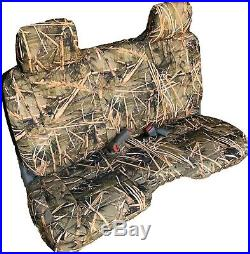 Triple Stitched Thick Small Pickup Truck Bench Muddy Water Camo Seat Cover
