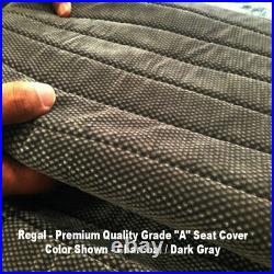Triple Stitched Thick Small Pickup Truck CHARCOAL Solid Bench Seat Cover