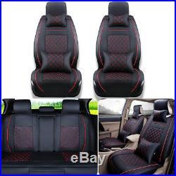 Universal Car Seat Cover Full Set Front Rear Split Bench Cushions 5 Seat Sedan