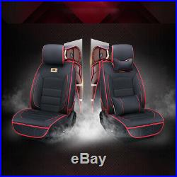 Universal Car Seat Cover Full Set Front&Rear Split Bench Protector PU Leather