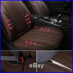 Universal Car Seat Cover Set Protector Front Rear Split Bench Zipper Closure