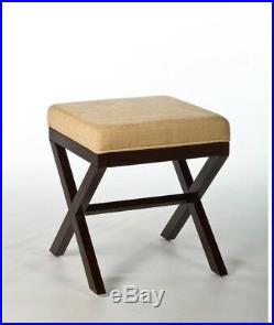 Vanity Stool Espresso Morgan Makeup Chair Bedroom Classic Textured Seat Cover