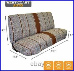 West Coast Auto Universal Baja Saddle Blanket Bench Full Size Seat Cover Brown
